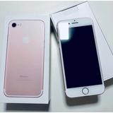 Apple Iphone 7 32gb Rose Na Cx Com Todos Acessórios Original