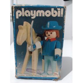 Playmobil Trol, Cavaleiro E Cavalo, Anos 80 Na Caixa