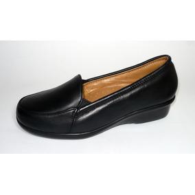 Zapato Confort Para Dama En Piel Y Acojinado ¡super Oferta!