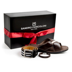 Kit Sandália Sandro Moscoloni Michsulivan + Pulseira + Cinto