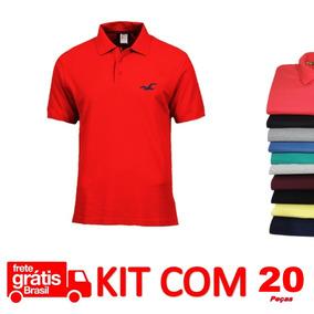 Camisas Polo Atacado Revenda Kit 20 Camisa Direto Da Fábrica. R  379 3d75c289c966d