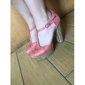 Zapatos Muy Altos Marca Asos Nº 38 Cuero Negro. Usado - RM (Metropolitana)  · Zapatos De Taco Alto Rosados Marca Asos e7b7711be436