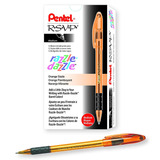 Pentel R.s.v.p. Razzle-dazzle Ballpoint Pen, Medium Line, Or