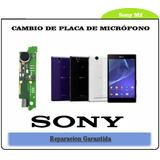 Cambio De Placa Con Microfono Antena Y Vibrador Para Sony M2