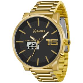 Relógio X-games Dourado Anadigi Xmgsa001 P2kx Original + Nf