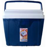 Caixa Térmica 34 Litros Cooler Azul Com Alça Antares