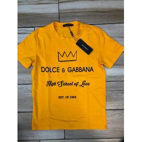 Playera Dolce Gabbana Dg Corona Nueva Algodon Corona Estampa