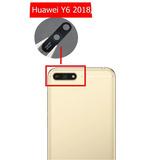 Cristal Lente De Camara Huawei Y6 2018 Con Adhesivo