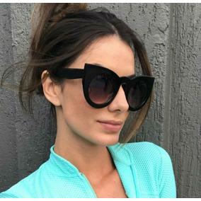 47da954c69fbf Óculos Importado Espelhado Prateado Feminino Cat Eye Gatinho