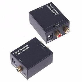 Conversor Óptico Digital Para Analógico +cabo Óptico Digital