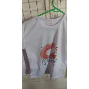 Playera Dryfit Blanca Impresa Con Tu Diseño / Dama