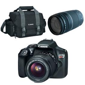 Câmera T6 18mp Eos 18-55mm + Lente Profissional Ef75+bolsa
