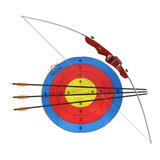 Arco Balanceado Tupy Nautika Com 3 Flechas Mira Alvo Corda