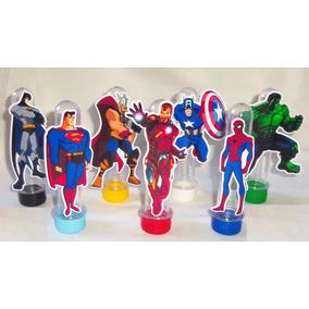 100 Super Heróis De 7,5cm Para Tubete 3d