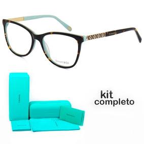 2f139380f977a Armação Oculos De Grau Tiffany   Co. Tf2099 Kit Azul