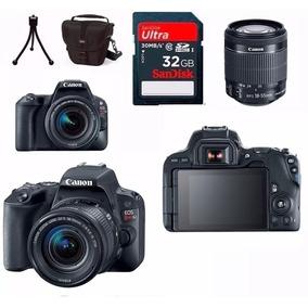 Câmera Canon Sl2 Efs 18-55mm+64gb+ Tripe+ Bolsa C N.fiscal E