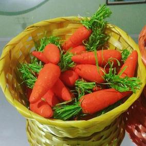 Cenouras Para Decoração De Páscoa -1 Pacote Com 12 Unidades