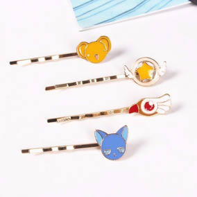 4 Pasadores Broches Cabello Sakura Card Captors Kawaii