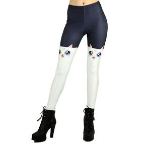 bb908c941 Calça Legging Plus Size Estampada Anime Geek Sailor Moon Cat