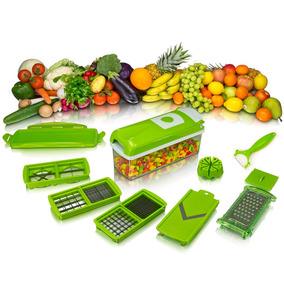 2x Cortador Fatiador Legumes Frutas Verduras Nicer Original