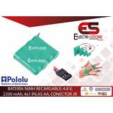 Batería Recargable Nimh Pack 3.6v 350 Mah 3x1 2/3-aaa Pololu
