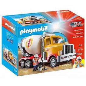 Playmobil Carga E Construcao Caminhão Betoneira-9116