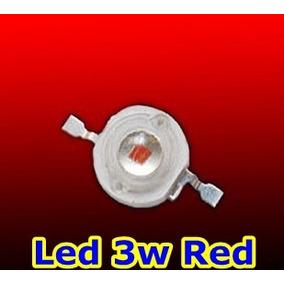10 Unidades Led Chip 3w Vermelho 610-625nm Frete Barato