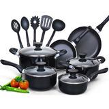 Cook N Home 15 Piezas De Cocina Antiadherente Stay Cool Set