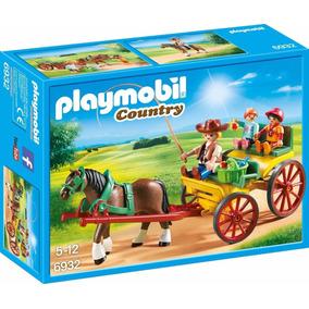 Brinquedo Playmobil Country Charrete Com Cavalo 6932
