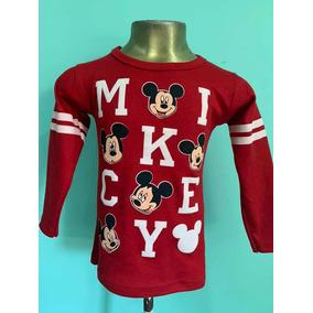 Playera Casual Mickey Mouse De Niño