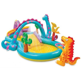 Piscina Playcenter Infantil Floresta Dinos 280 Litros Intex