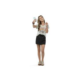 Blusa Infantil Gloss Com Decote Em V