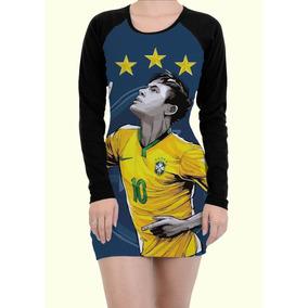 Vestido Tubinho Jogador Neymar Brasil Futebol Copa Brazil 9d55ee71fd8ef