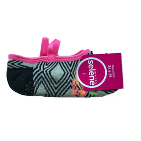 6de186b7986 Kit Com 10 Sapatilhas Pilates Feminina Selene Antiderrapante