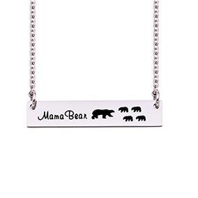 Melix Home Mama Bear Necklaces Cuatro Hijos