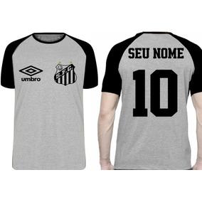 Camiseta Personalizada Com Seu Nome Time Santos Peixe Pelé d7874a6a0f8ef