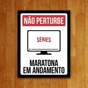 Placa Decorativa Legião Nerd Não Perturbe - Séries - Marat