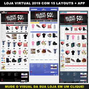 Loja Virtual 2019 Completa C/ 15 Modelos A Sua Escolha + App