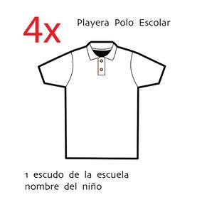 bcf2f0587f65d Playeras Tipo Polo Escolar Blanca - Ropa