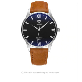 Reloj Elegante Hombre Acero Tornasol Envio Gratis Cafe