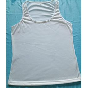 12305c7949 Camiseta Regata Feminina Branca 100% Poliester Fio 30.1 - Camisetas ...
