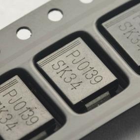 Sk34 Diodo 1n5822 Smd Schottky 3a 40v (10 Unidades)