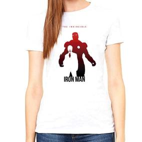 Hermosa Blusa Ironman Tony Stark Mujer Sublimación Poly