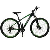Bicicleta Vip Bikes X10 21v 29er Preta/verde 2018