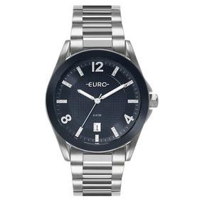 a2389a1d01a Relógio Euro Couro Azul Marinho - Relógios no Mercado Livre Brasil