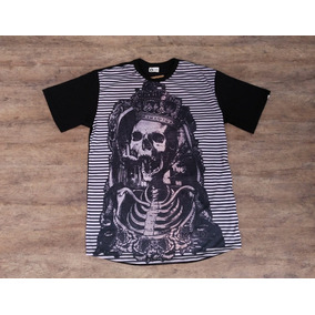 9ef65f6a5b6ec Camiseta Mcd Kings Skull Especial Long Line - Alongada