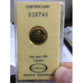 Moeda Comemorativa Victoria Regia - Ouro Puro 999 (5 Gramas)