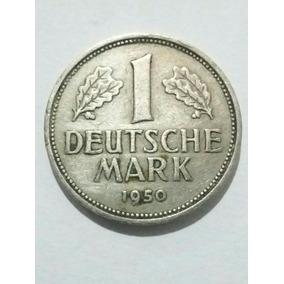 Antiga Moeda Alemã 1 Deutsche Mark 1950 Letra J