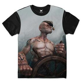 Camiseta Popeye Forte Strong Maromba Moda Ydias W70 ffd1cee5398