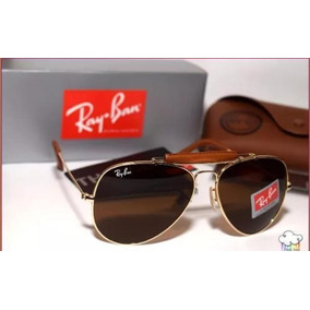 d10646a54ce89 Óculos De Sol Ray Ban Aviador   Caçador Dourado Rb 3030 - Óculos no ...